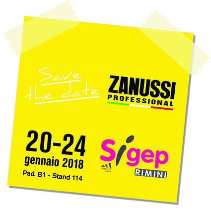 Save the date Zanussi SIGEP 2018